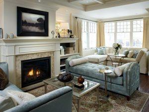 Thiết kế trang trí nội thất phòng khách không còn lo lắng mùa đông lạnh buốt