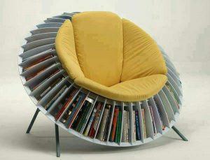 Ghế bành kết hợp kệ sách