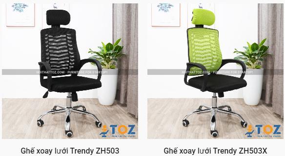 Một số mẫu ghế xoay nhân viên giá rẻ được ưa chuộng