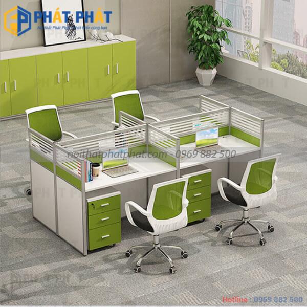 Tác dụng tuyệt vời của bàn văn phòng có vách ngăn trong không gian làm việc. - 1